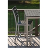 Loft Outdoor Counter Height Chair - HDPE Black Seat and Back / Gloss Silver Frame (set)