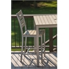 Loft Outdoor Counter Height Chair - HDPE Sand Seat and Back / Gloss Silver Frame (set)