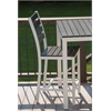 Elan Furniture Loft Outdoor Counter Height Chair - HDPE Black Seat and Back / Textured White Frame (set)