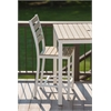 Loft Outdoor Counter Height Chair - HDPE Sand Seat and Back / Textured White Frame (set)