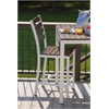 Loft Outdoor Counter Height Chair - HDPE Venetian Cocoa Seat and Back / Textured White Frame (set)