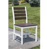 Elan Furniture Loft Outdoor Dining Chair - HDPE Venetian Cocoa Seat and Back / Textured White Frame (set)