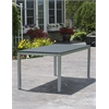 Loft Outdoor 72 x 36 Table - HDPE Black Table Top / Gloss Silver Frame
