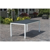 Loft Outdoor 72 x 36 Table - HDPE Black Table Top / Textured White Frame