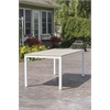 Elan Furniture Loft Outdoor 72 x 36 Table - HDPE Sand Table Top / Textured White Frame