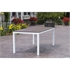 Elan Furniture Loft Outdoor 72 x 36 Table - HDPE Venetian Cocoa Table Top / Textured White Frame
