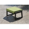 Elan Furniture Vero Outdoor Lounge Ottoman - Textured Black with Ginkgo Sunbrella Cushion