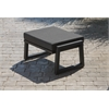 Elan Furniture Vero Outdoor Lounge Ottoman - Textured Black with Coal Sunbrella Cushion