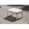 Elan Furniture Vero Outdoor Lounge Ottoman - Textured White with Bird's Eye Sunbrella Cushion