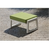 Elan Furniture Vero Outdoor Lounge Ottoman - Textured White with Ginkgo Sunbrella Cushion
