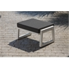 Elan Furniture Vero Outdoor Lounge Ottoman - Textured White with Coal Sunbrella Cushion