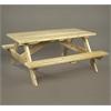 Rustic Cedar TABLE, SQUARE STYLE PICNIC
