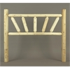 BED, TWIN SUNBURST HEADBOARD O