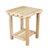 Rustic Cedar TABLE, NIGHT NO DRAW KD