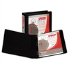 "Samsill Speedy Spine Round Ring View Binder, 11 x 8-1/2, 1-1/2"" Cap, Black"