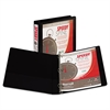 "Speedy Spine Round Ring View Binder, 11 x 8-1/2, 1"" Cap, Black"