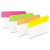 Post-it File Tabs, 2 x 1 1/2, Solid, Flat, Assorted Bright, 24/Pack