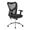 Techni Mobili High Back Mesh Office Chair With Chrome Base. Color: Black