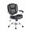 Techni Mobili Plush Task Office Chair With Techniflex Upholstery. Color: Black