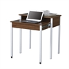 Retractable Writing Desk with Storage. Color: Walnut