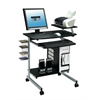 Techni Mobili Compact Computer Cart With Storage . Color: Graphite