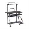 Multifunction Mobile Workstation Desk. Color: Graphite