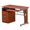 Computer Desk With Ample Storage. Color: Mahogany