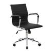 Techni Mobili Modern Medium Back Executive Office Chair. Color: Black