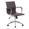 Techni Mobili Modern Medium Back Executive Office Chair. Color: Chocolate