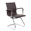Modern Visitor Office Chair. Color: Chocolate