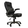 Techni Mobili Medium Back Executive Office Chair with Flip-up Arms. Color: Black
