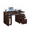 Complete Workstation Computer Desk with Storage. Color: Chocolate