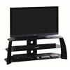 Techni Mobili Modern Black Glass TV Stand for TV's Up To 65""
