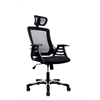 Modern High Back Mesh Executive Office Chair with Headrest. Color: Black