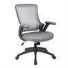 Techni Mobili Mid-Back Mesh Task Office Chair with Flip Up Arms. Color: Gray