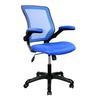 Techni Mobili Mesh Task Office Chair with Flip Up Arms. Color: Blue