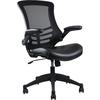 Techni Mobili Stylish Mid-Back Mesh Office Chair With Adjustable Arms. Color: Black