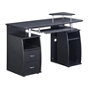 Complete Computer Workstation Desk With Storage. Color: Espresso