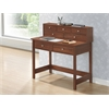 Elegant Writing Desk with Storage and Hutch. Color: Oak