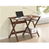 Writing Desk with Side Shelves. Color: Oak