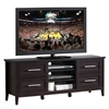 """Techni Mobili Elegant TV Stand with Storage For TVs Up To 70"""". Color: Espresso"""