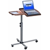 Techni Mobili Rolling Adjustable Laptop Cart. Color: Mahogany