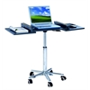 Techni Mobili Folding Table Laptop Cart. Color: Graphite