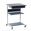 Techni Mobili Rolling Laptop Cart with Storage. Color: Graphite
