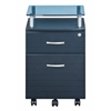 Rolling File Cabinet With Glass Top. Color: Graphite