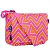 Zigzag Pink Kickstart Messenger Bag
