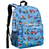 Wildkin Olive Kids Trains, Planes, Trucks Crackerjack Backpack