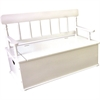 Levels of Discovery White Bench Seat w/ Storage