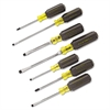 Klein Tools 7-Piece Cushion-Grip Screwdriver Set, Cabinet/Keystone/Phillips, 7/Set