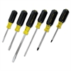6-Piece Vinyl-Grip Screwdriver Set, Cabinet/Phillips/Slotted